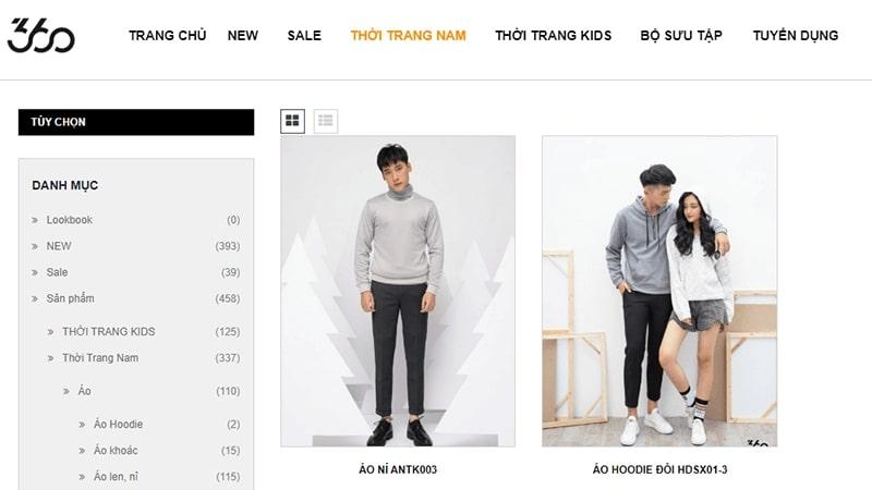 cửa hàng áo hoodie nam đẹp chất bạn không nên bỏ lỡ - 360 Boutique
