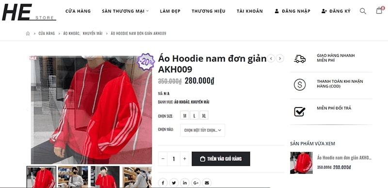 cửa hàng áo hoodie nam đẹp chất bạn không nên bỏ lỡ - He Store