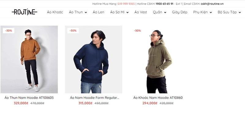 cửa hàng áo hoodie nam đẹp chất bạn không nên bỏ lỡ - Routine