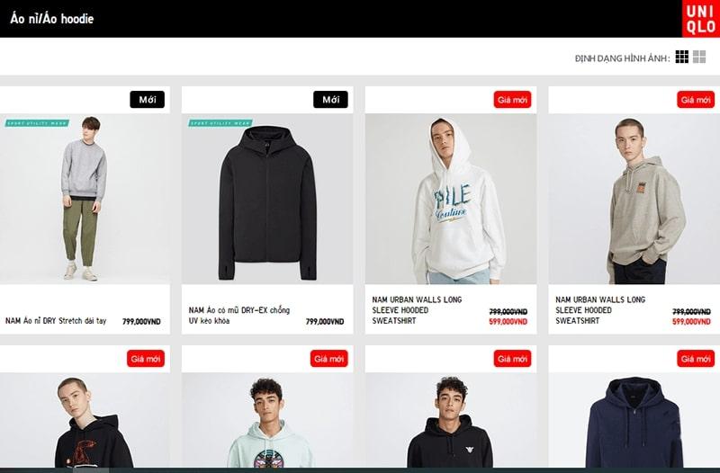 cửa hàng áo hoodie nam đẹp chất bạn không nên bỏ lỡ - Uniqlo