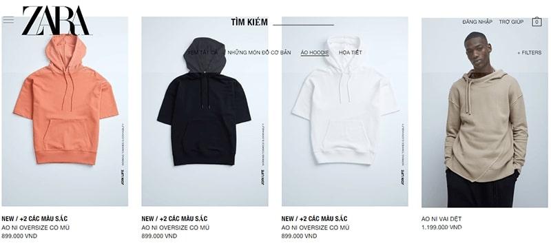 cửa hàng áo hoodie nam đẹp chất bạn không nên bỏ lỡ - Zara
