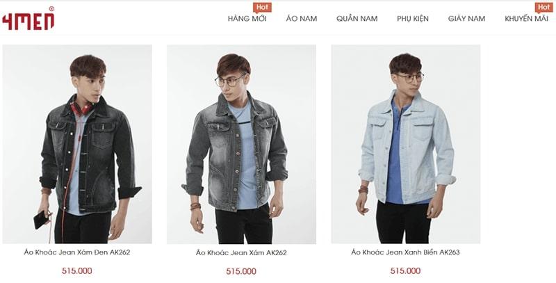 shop áo khoác jean nam tphcm - 4MEN