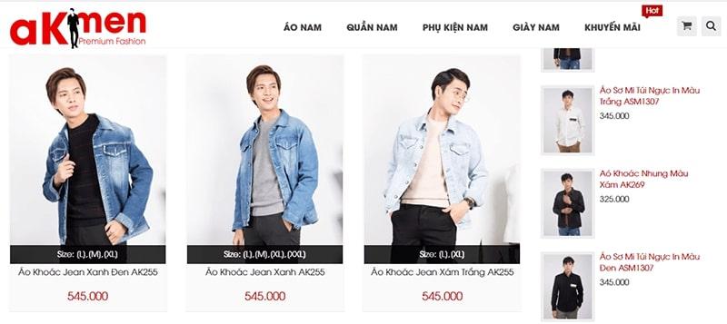 shop áo khoác jean nam tphcm - aKMEN