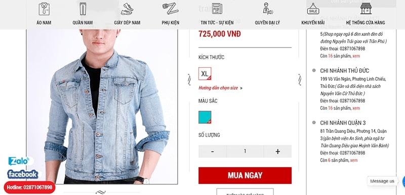 shop áo khoác jean nam tphcm - Ấn Tượng Shop