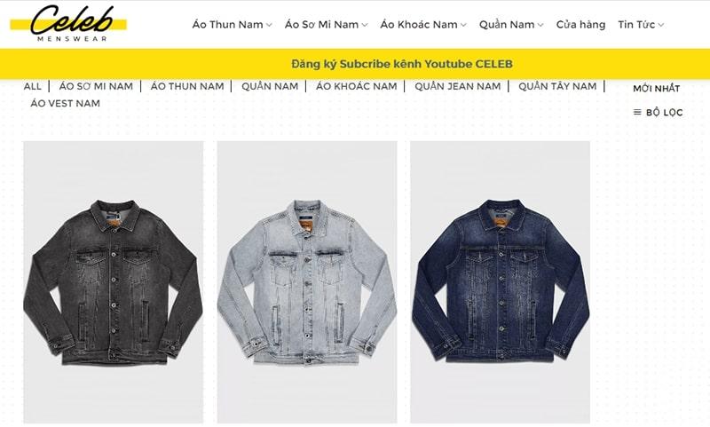 shop áo khoác jean nam tphcm - Celeb