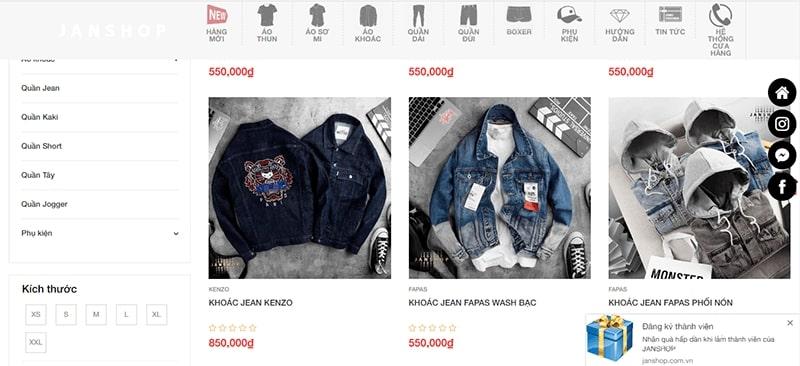 shop áo khoác jean nam tphcm - Jan Shop