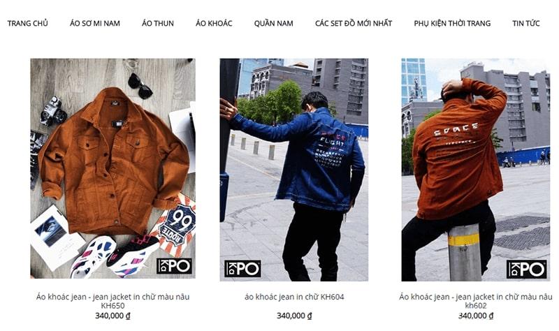 shop áo khoác jean nam tphcm - Kapo