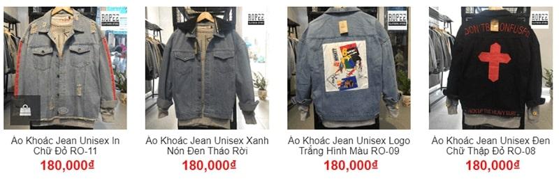 shop áo khoác jean nam tphcm - Ropee
