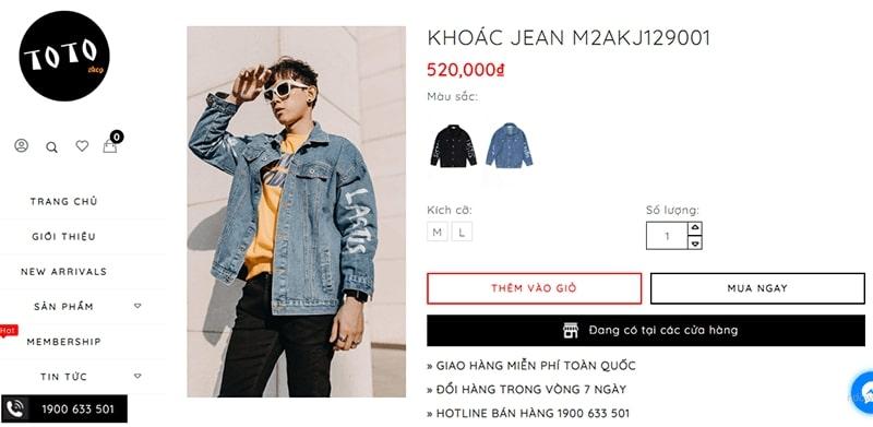 shop áo khoác jean nam tphcm - Toto Shop