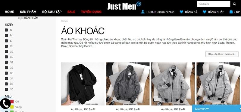 hop áo khoác nam hot - Just Men
