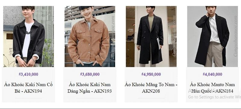 địa chỉ áo khoác kaki nam đẹp không thể bỏ qua - Công Sở Hàn Quốc