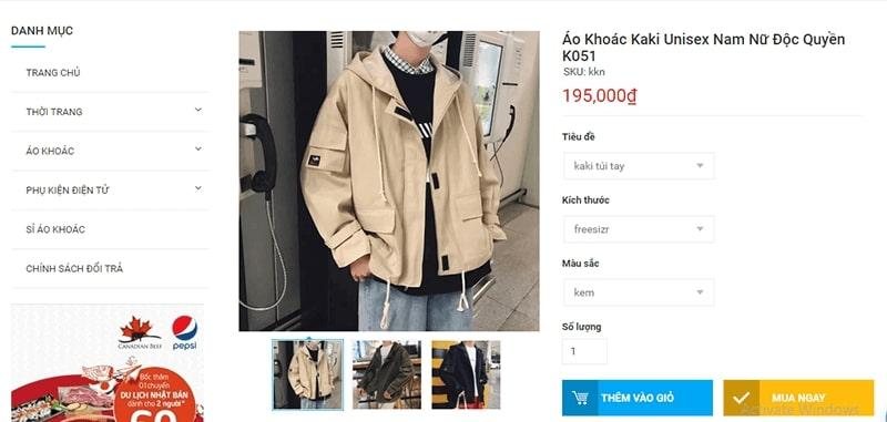 địa chỉ áo khoác kaki nam đẹp không thể bỏ qua - Thanh Xuân Store
