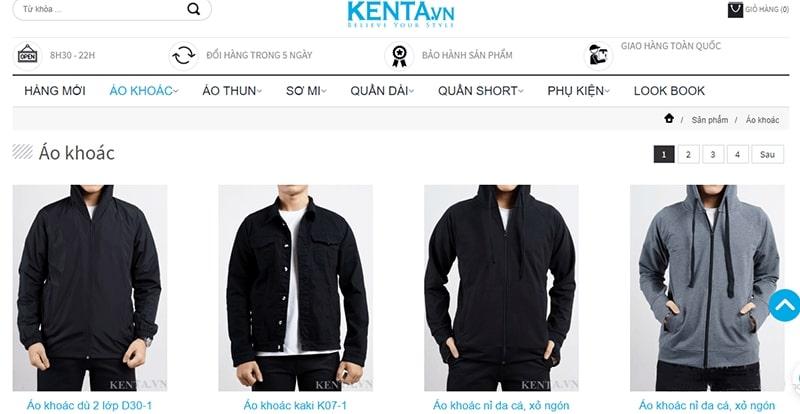 hop áo khoác nam hot - Kenta