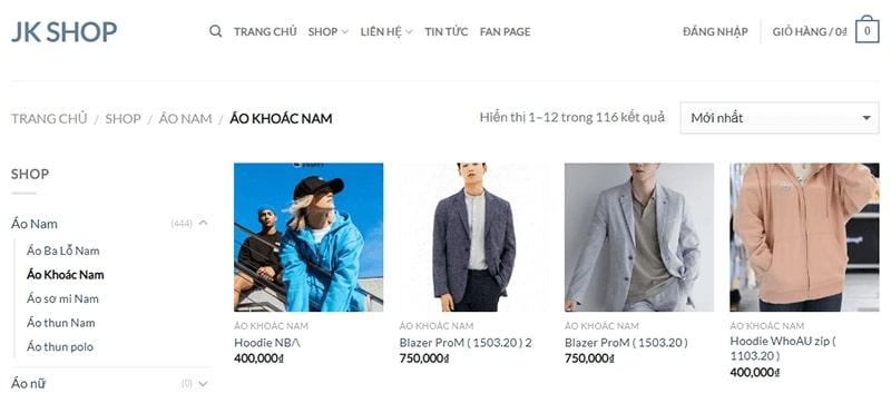 địa chỉ áo khoác nam tphcm - JK Shop