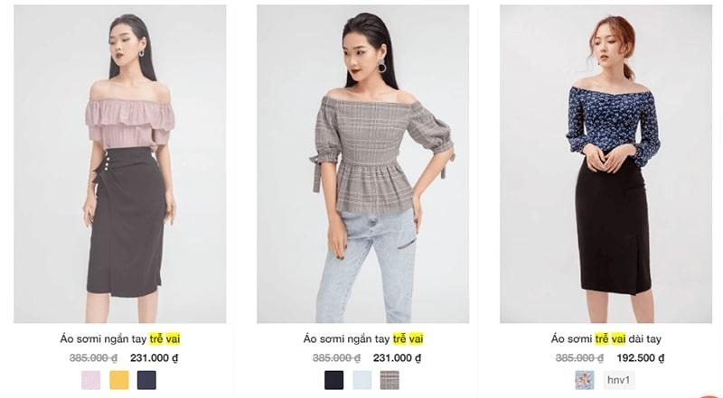 """cửa hàng bán áo trễ vai nữ """"siêu yêu"""" -  20 Again"""