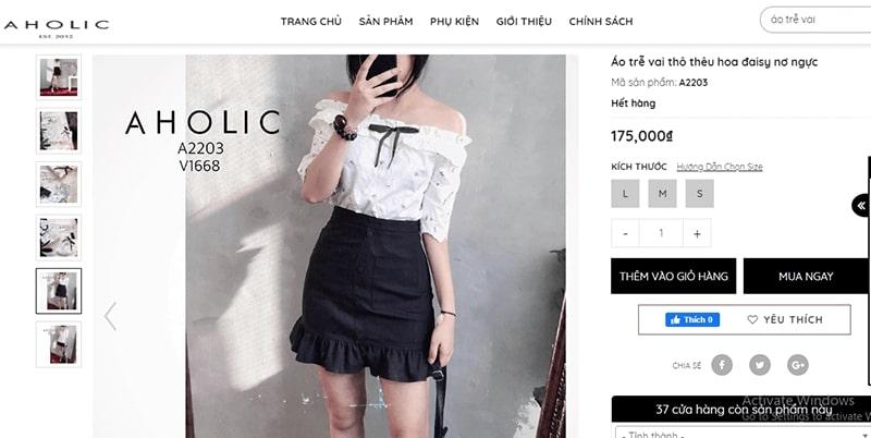 """cửa hàng bán áo trễ vai nữ """"siêu yêu"""" - Aholic"""