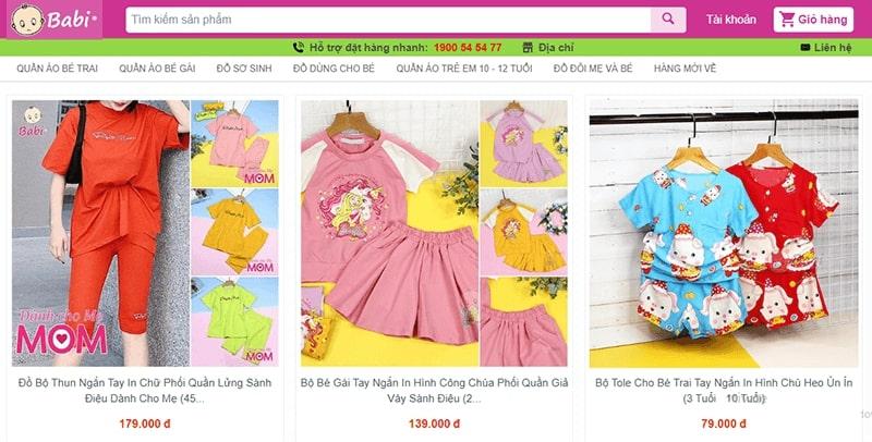 cửa hàng đồ bộ mặc nhà - siêu cưng - Babi