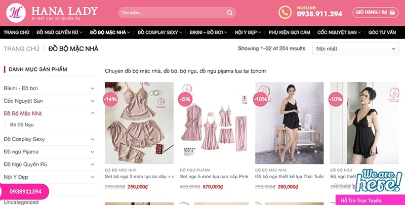 cửa hàng đồ bộ mặc nhà - siêu cưng - Hana Lady