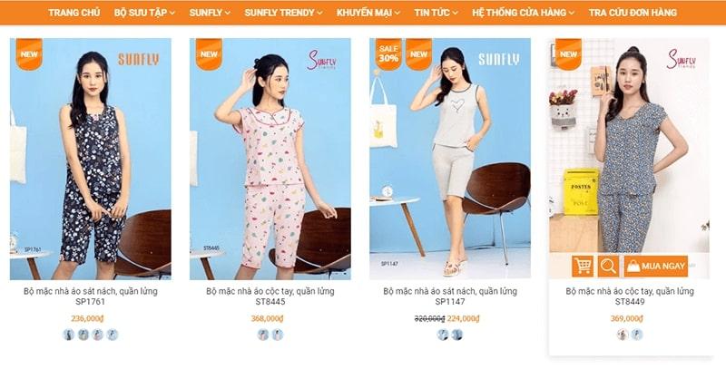 cửa hàng đồ bộ mặc nhà siêu cưng - Sunfly