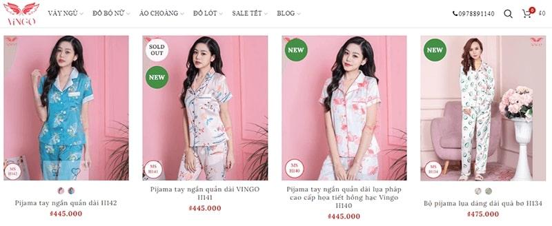 cửa hàng đồ bộ mặc nhà - siêu cưng - Vingo Việt Nam