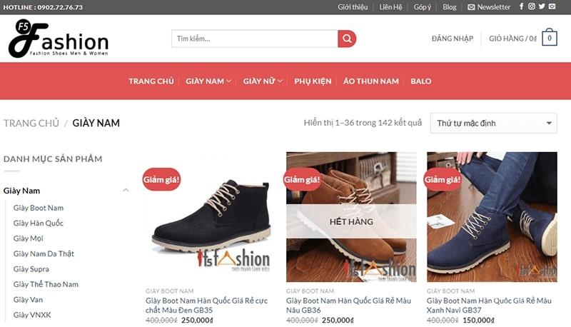 cửa hàng giày da nam tphcm dành cho quý ông - F5 Fashion