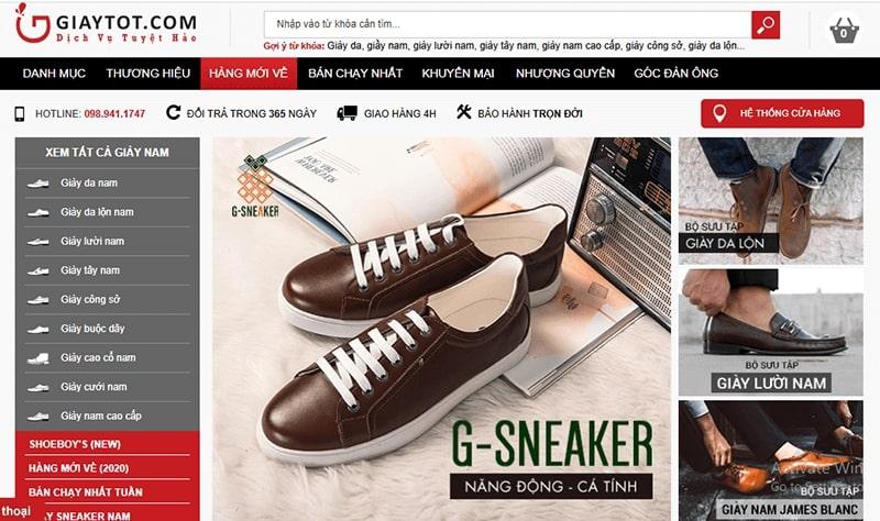 cửa hàng giày da nam tphcm dành cho quý ông - Giày Tốt