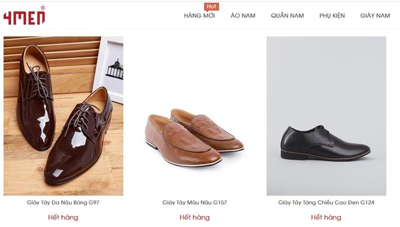 giày nam công sở tphcm 4Men