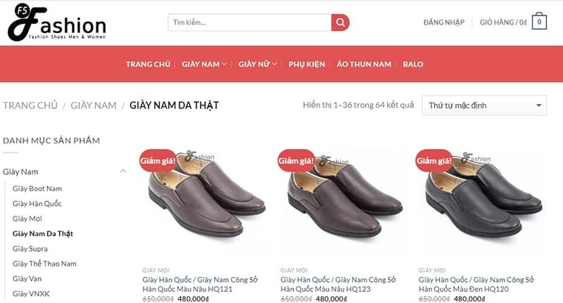 giày nam công sở tphcm F5 Fashion