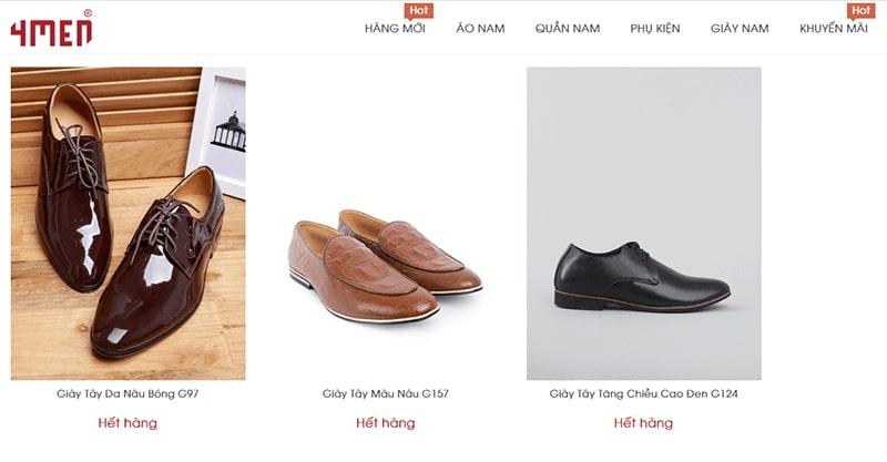 cửa hàng giày tây nam cao cấp tphcm - 4MEN