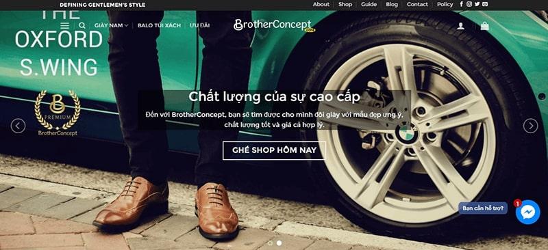 cửa hàng giày tây nam cao cấp tphcm - Brother Concept