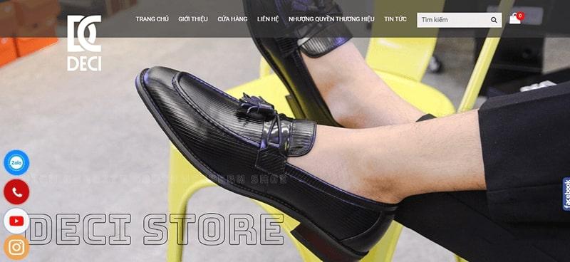 cửa hàng giày tây nam cao cấp tphcm - Deci