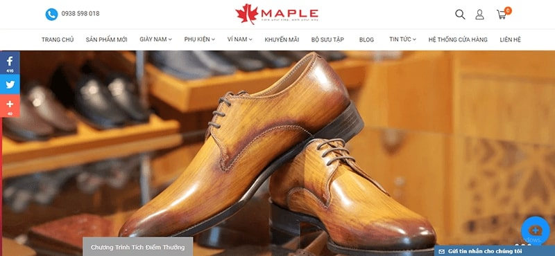 cửa hàng giày tây nam cao cấp tphcm - Maple Shoes