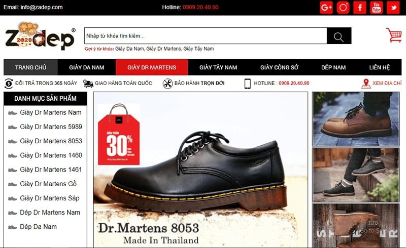 cửa hàng giày tây nam cao cấp tphcm - Zadep