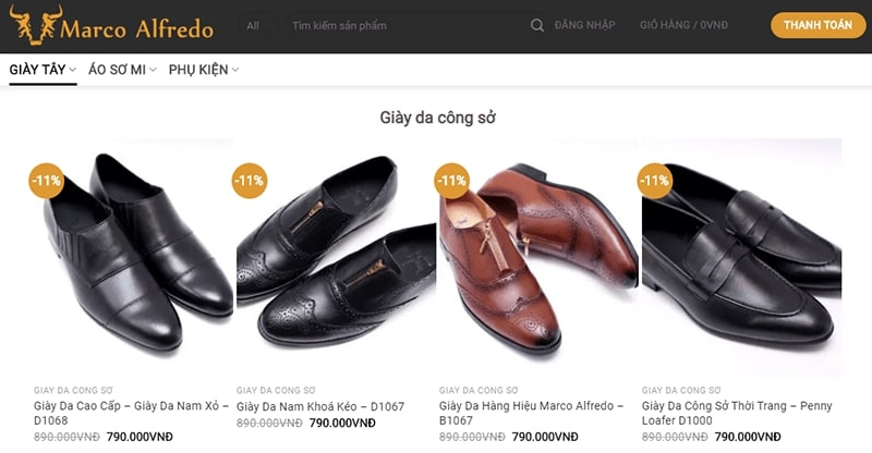 giày nam công sở tphcm Marco Alfredo Oficial Site