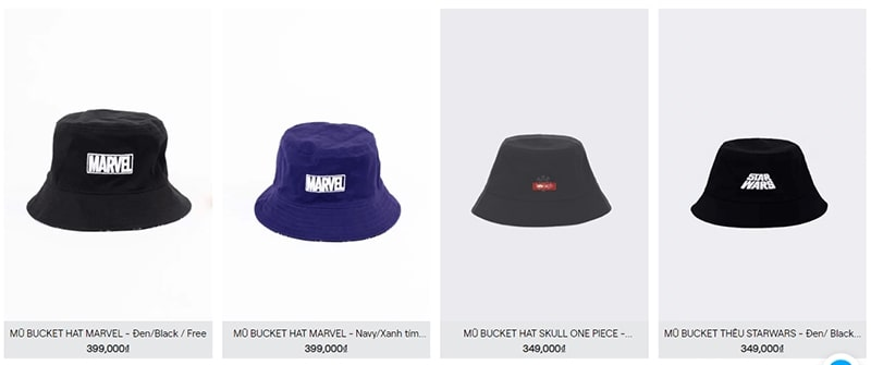 shop bán mũ bucket đẹp - Boozila