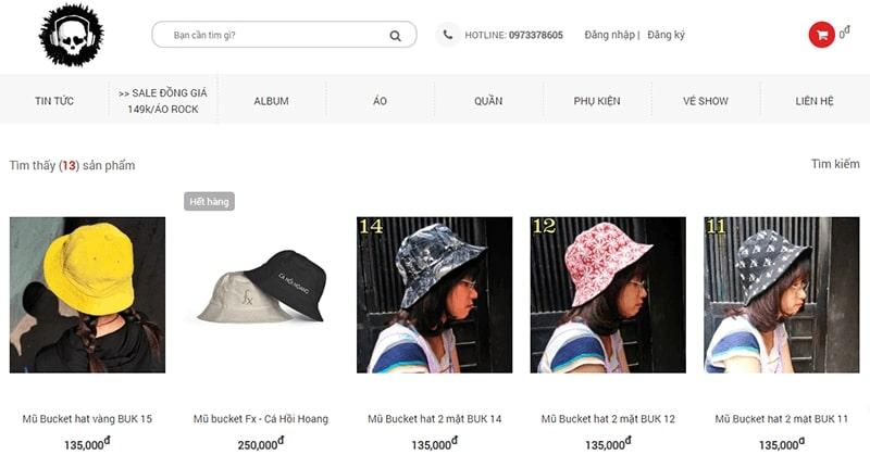 shop bán mũ bucket đẹp - Bụi Store 888