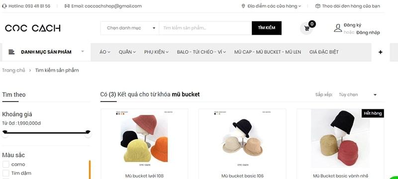 shop bán mũ bucket đẹp - Cọc Cạch Shop