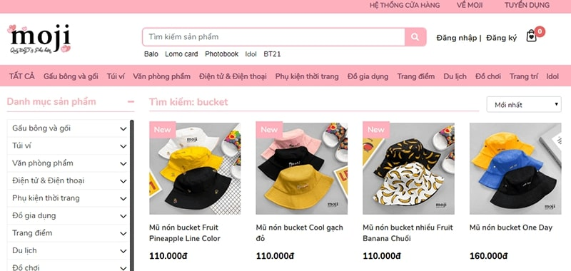 shop bán mũ bucket đẹp - Moji Shop