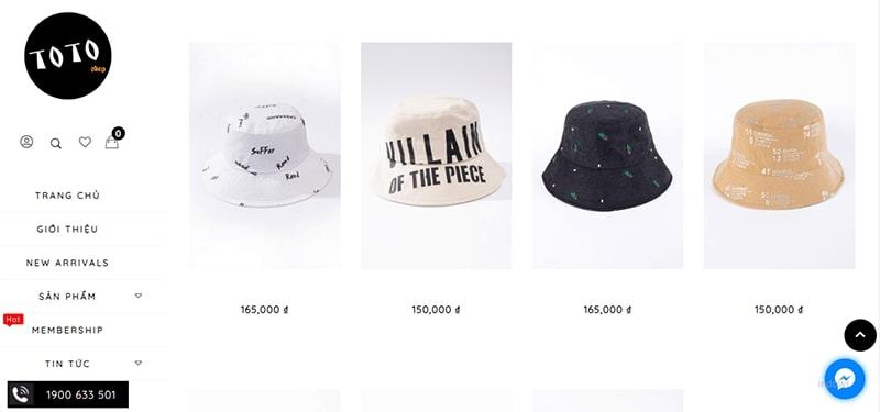 shop bán mũ bucket đẹp - TOTO Shop