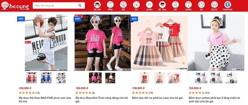 shop quần áo trẻ em xuất khẩu tphcm Bé Cưng Shop
