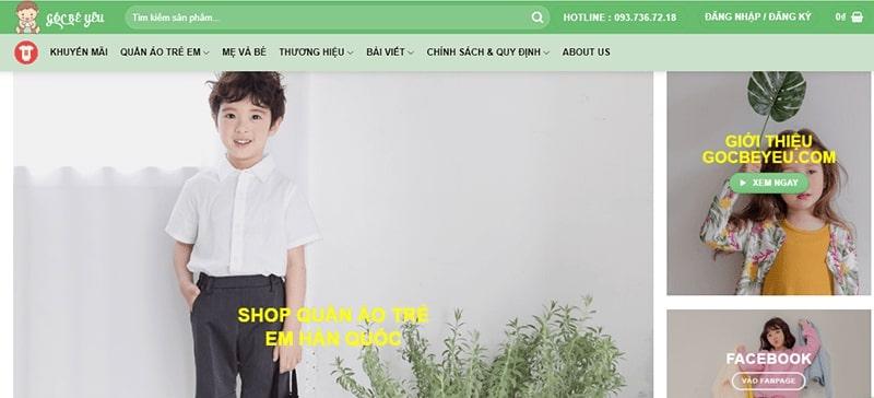 shop quần áo trẻ em xuất khẩu tphcm Góc Bé Yêu