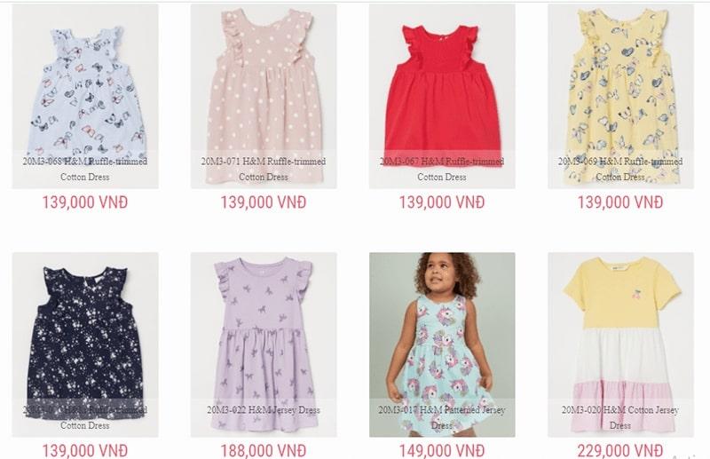 shop quần áo trẻ em xuất khẩu tphcm HàThương Shop