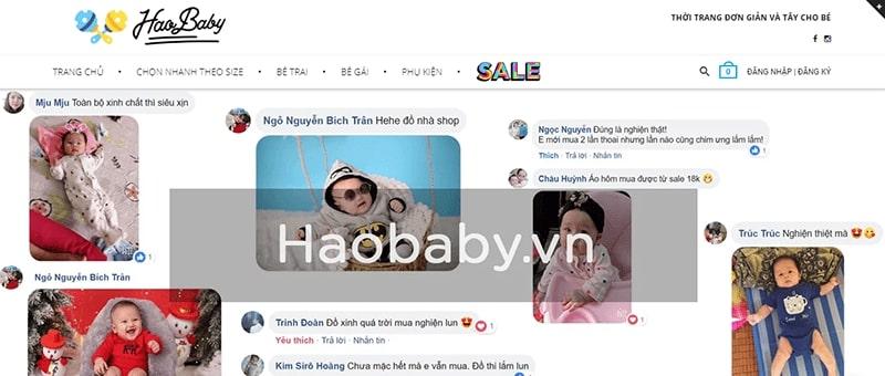 shop quần áo trẻ em xuất khẩu tphcm Hào Baby
