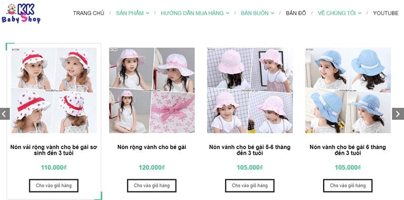 shop quần áo trẻ em xuất khẩu tphcm KK Baby Shop