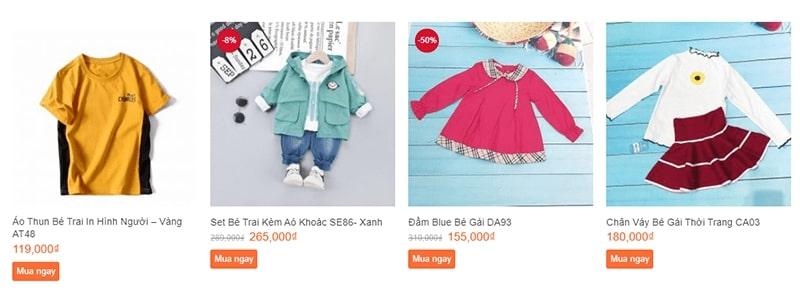 shop quần áo trẻ em xuất khẩu tphcm Thế Giới Thời trang Baby