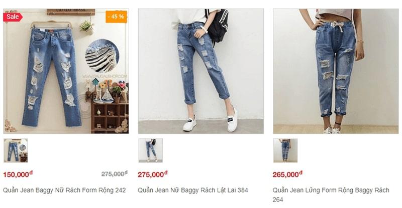 shop bán quần baggy nhiều mẫu đẹp - Gâu Gâu shop
