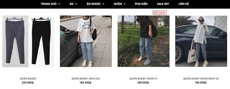 shop bán quần baggy nhiều mẫu đẹp - Homies Sài Gòn