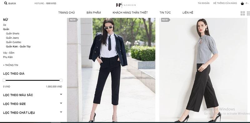 shop bán quần baggy nhiều mẫu đẹp - JP Fashion