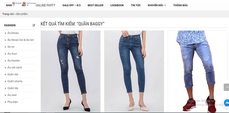shop bán quần baggy nhiều mẫu đẹp - Minh Thư Fashion