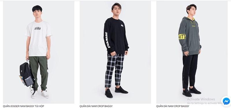 shop chuyên quần baggy nam Boo
